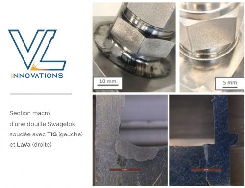 Soudure laser sous vide d'une douille soudée Swagelok en acier inoxydable
