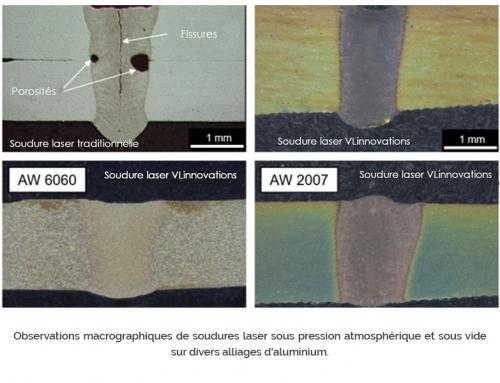 Soudure laser sous vide des Alliages d'aluminium