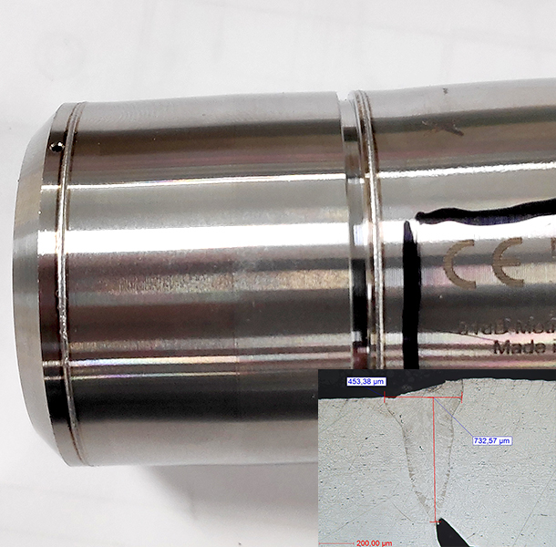 Soudure Laser Capteur Inox 316L