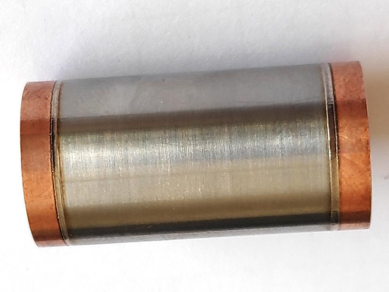 Soudure laser Cuivre CuC2 et Titane TA6V